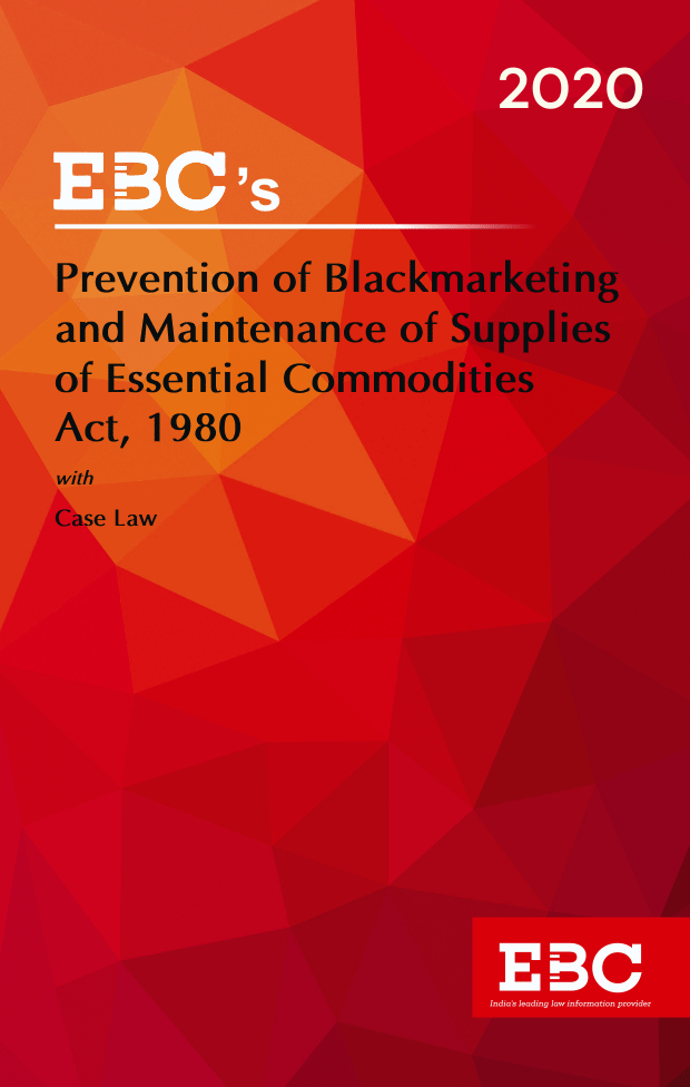Prevention of Blackmarketing and Maintenance of Supplies of Essential Commodities Act, 1980