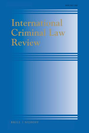 International Criminal Law Review
