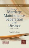 Law of Marriage Maintenance Separation and Divorce