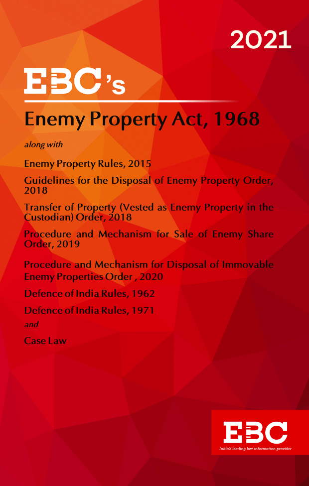 Enemy Property Act, 1968[Amended up to Act 34 of 2019 and as of 5-12-2020]Bare Act (Print/eBook)