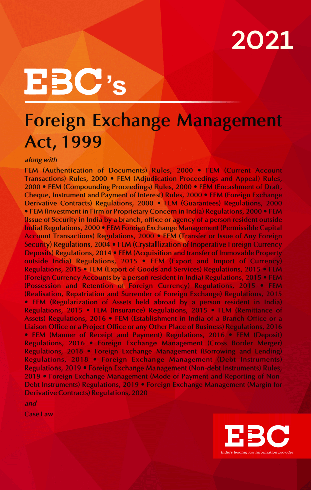 Foreign Exchange Management Act, 1999[Amended up to Act 50 of 2019 and as of 10-12-2020]Bare Act (Print/eBook)