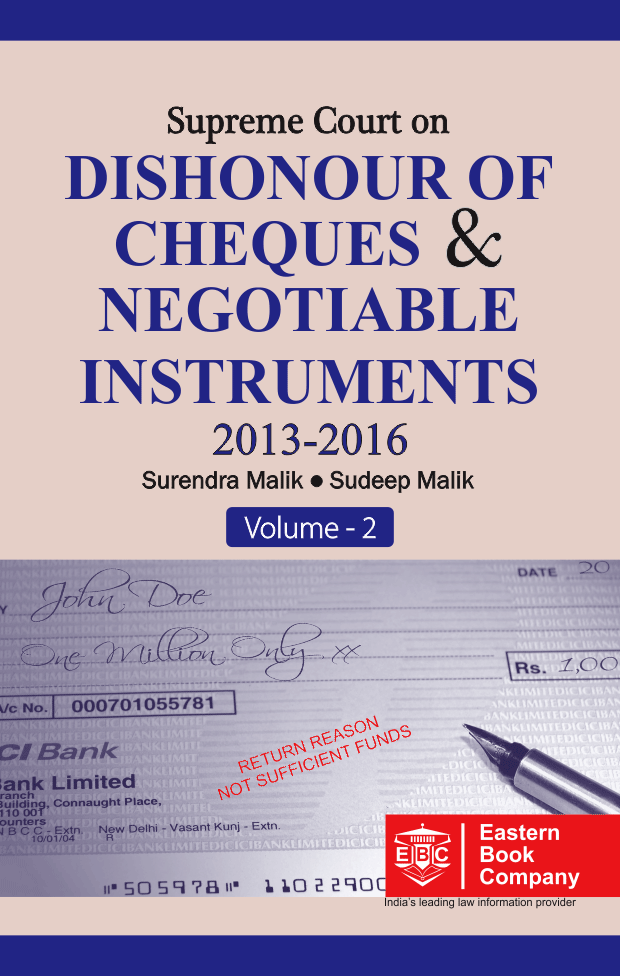Supreme Court on Dishonour of Cheques And Negotiable Instruments (in 2 Volumes)