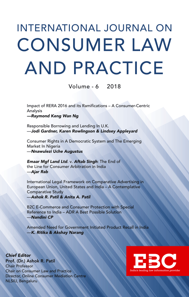 NLS International Journal on Consumer Law and Practice Vol 6