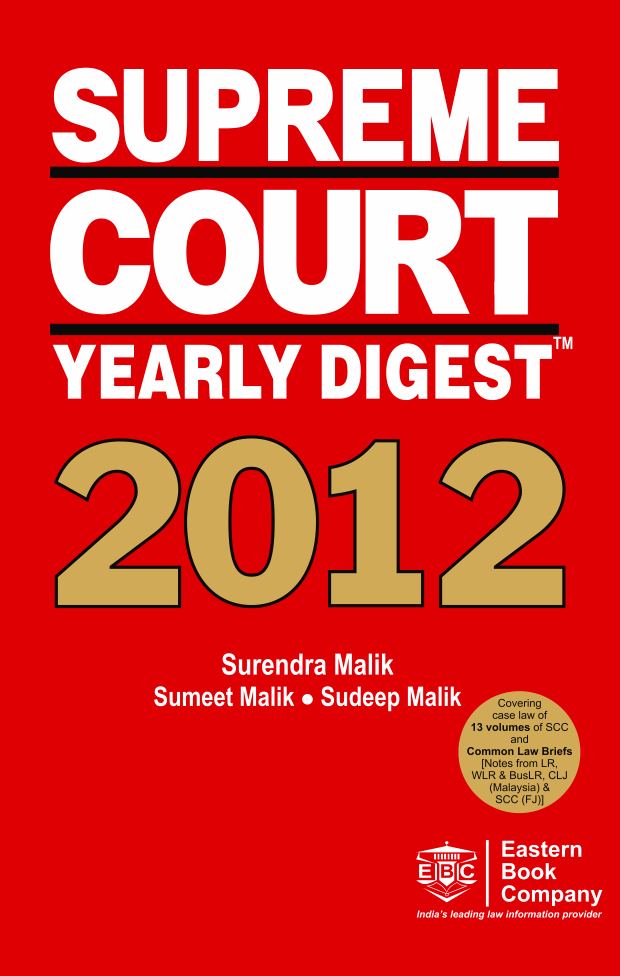 Supreme Court Yearly Digest, 2012