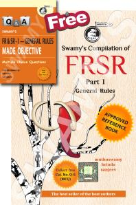FRSR - PART I - GENERAL RULES WITH FREE MCQ - 2019
