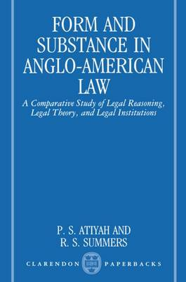 Form and Substance in Anglo-American Law