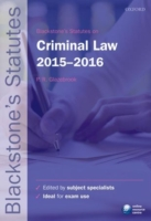Blackstone's Statutes on Criminal Law