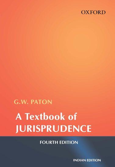 A Textbook of Jurisprudence