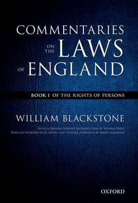 Oxford Edition of Blackstone's: Commentaries on the Laws of England