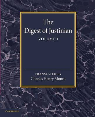 Digest of Justinian: Volume 1