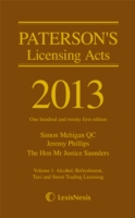 Paterson's Licensing Acts 2013