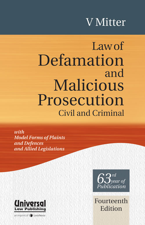 Law of Defamation & Malicious Prosecution Civil and Cri - EBC Webstore