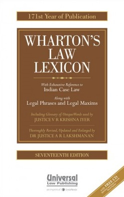 Law Lexicon (With Exhaustive Reference to Indian Case Law) (171th Year of Publication) with CD