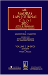 MLJs Madras Law Journal Digest 2010 Vol. 5 (A-End)