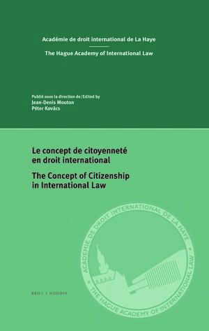 Le concept de citoyennet en droit international The Concept of Citizenship in International Law