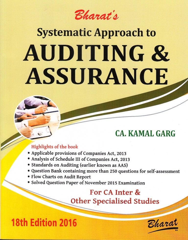 Systematic Approach to AUDITING & ASSURANCE