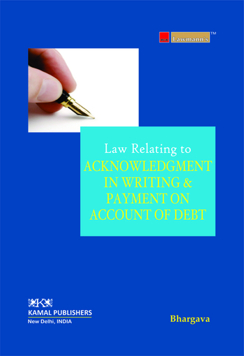 Acknowledgment in Writing and Payment on Account of Debt