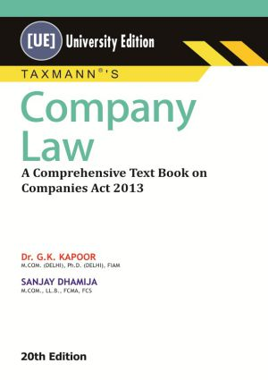 Company LawA Comprehensive Text Book on Companies Act 2013