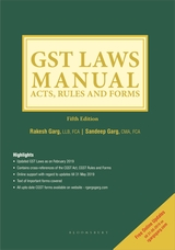 GST Laws Manual Acts, Rules and Forms