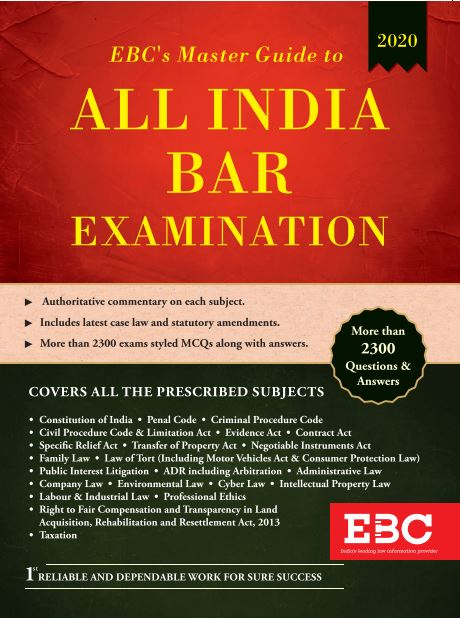EBC's Master Guide To All India Bar Examination