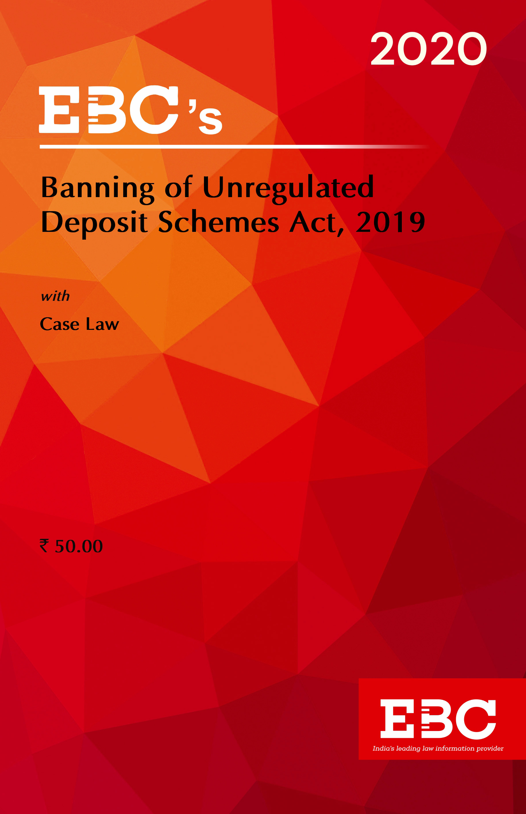 Banning of Unregulated Deposit Schemes Act, 2019