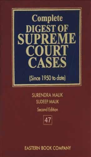 Complete Digest of Supreme Court Cases, Vol 47