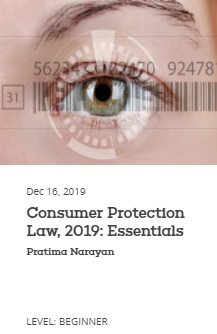 EBC Learning Course - Consumer Protection Law, 2019: Essentials
