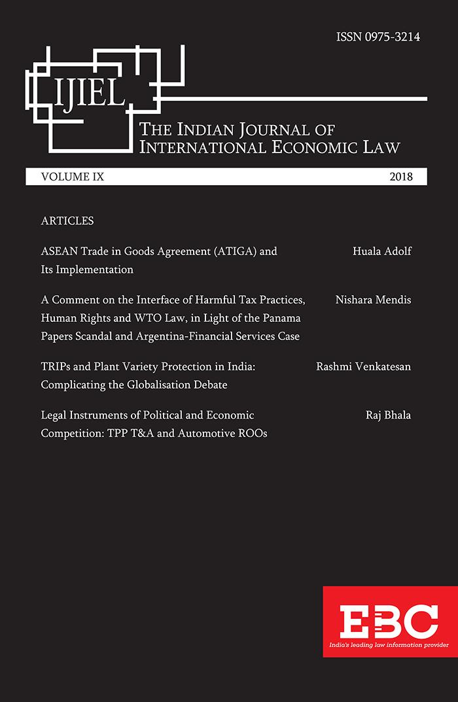 N L S Indian Journal of International Economic Law (IJIEL)