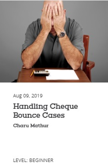 EBC Learning Course - Handling Cheque Bounce Cases