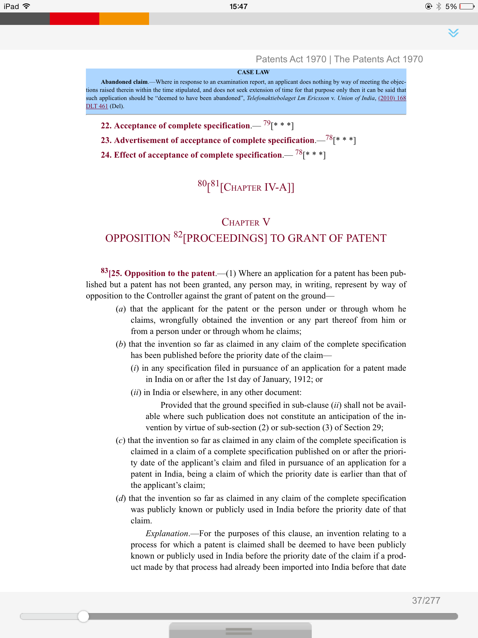 Patents Act, 1970