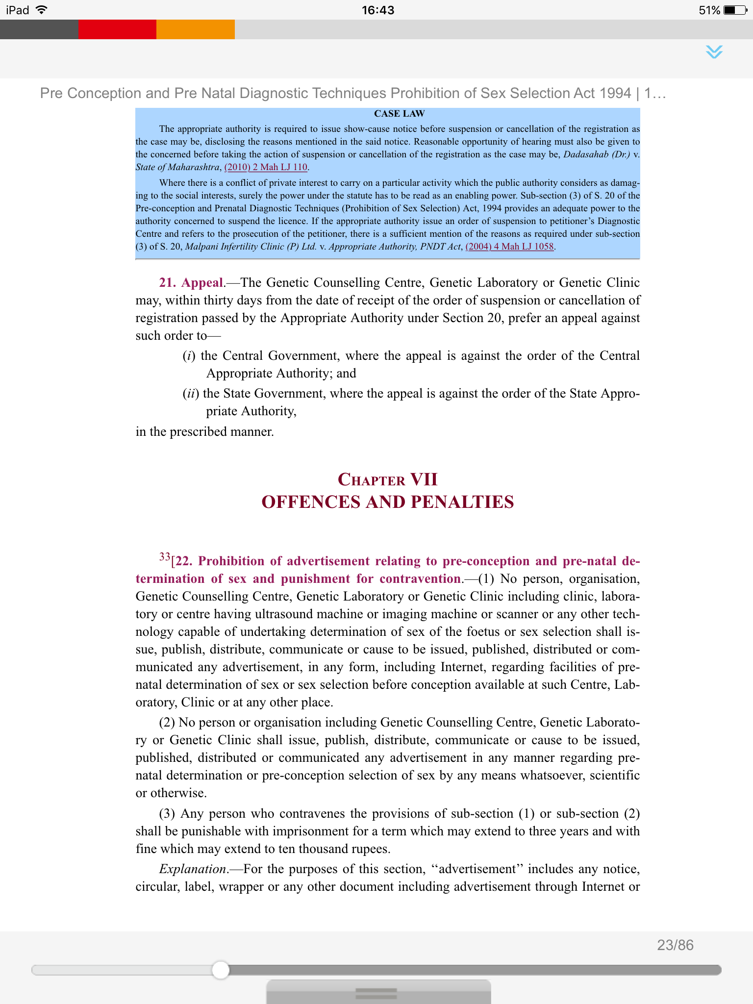 Pcpndt Act Ebook