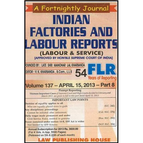 Indian Factories and Labour Reports (Labour And Service) (4 Vols. in one year )