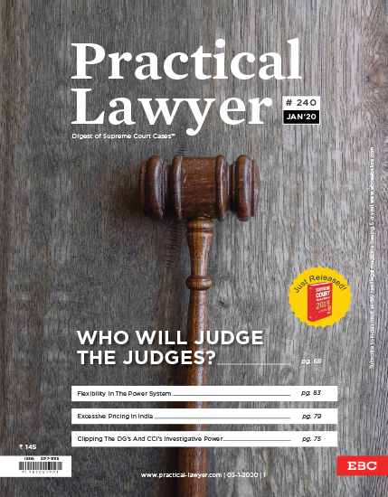 Practical Lawyer:  Who Will Judge The Judges?