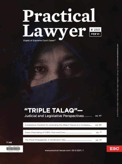 Practical Lawyer Triple Talaq Judicial and Legislative Perspectives