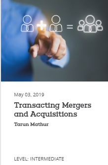 EBC Learning Course - Transacting Mergers and Acquisitions