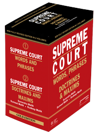 Supreme Court Words, and Phrases and Doctrines & Maxims