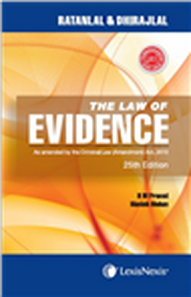 The Law of evidence-AS AMENDED BY THE CRIMINAL LAW (AMENDMENT) ACT, 2013
