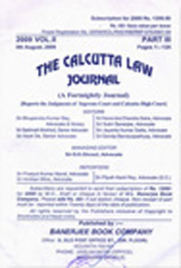 The Calcutta Law Journal (CLJ) [Fortnightly]