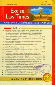 Annual Subscription for EXCISE LAW TIMES (ELT) (Fortnightly) - (4 Volumes per year)