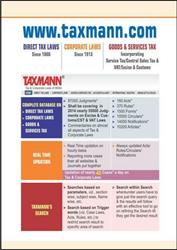 Taxmann.com(All Three Modules-Direct Tax Laws / Corporate Laws /Indirect Tax Laws) with daily updates