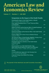 American Law and Economics Review [Print]