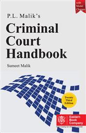 P.L. Malik Criminal Court Handbook with Model Charges by Sumeet Malik