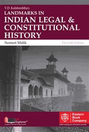 V D Kulshreshtha Landmarks in Indian Legal and Constitutional History by Sumeet Malik