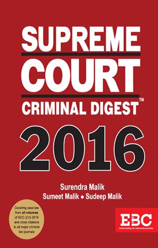 SUPREME COURT CRIMINAL DIGEST 2016