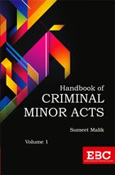 Handbook of Criminal Minor Acts (In 2 Volumes)