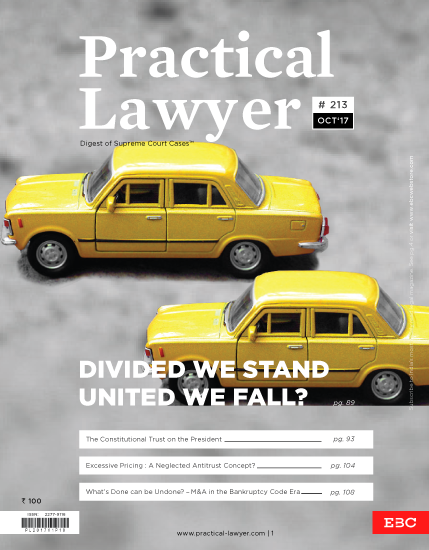 The Practical Lawyer - Divided We Stand United We Fall?