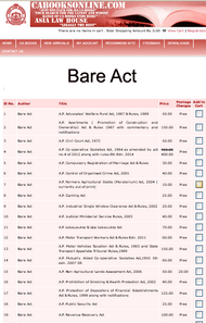 A.P. VAT Act & Rules 2005 in A.P. 2007 edn