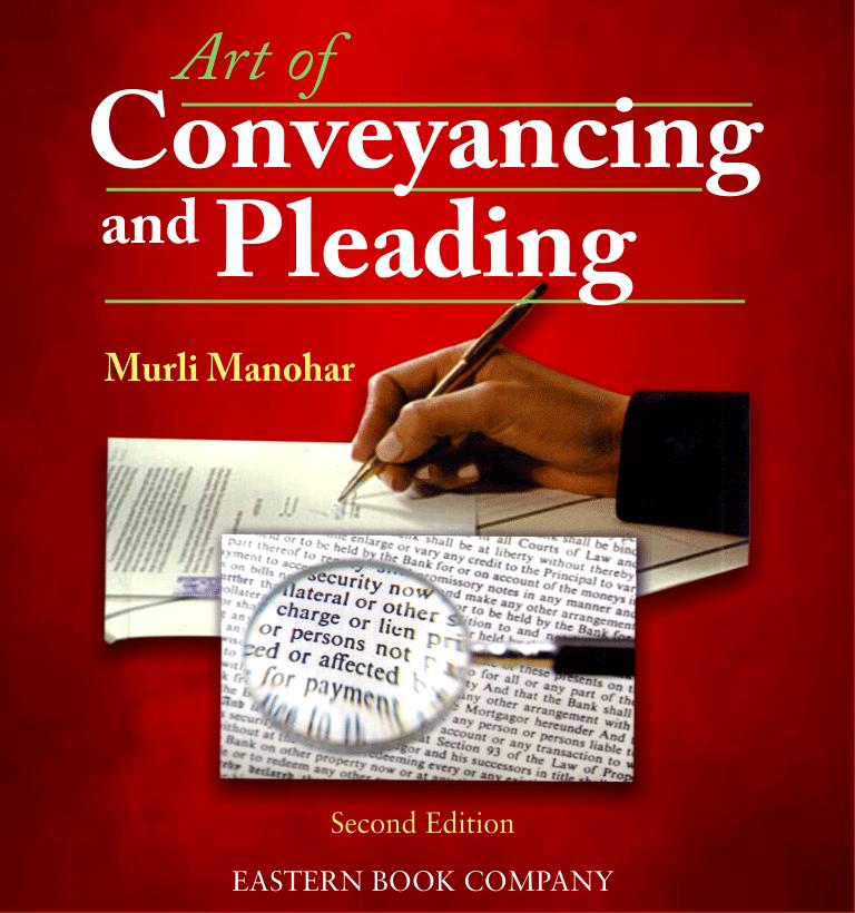 Murli Manohar Art of Conveyancing and Pleading by R. Prakash (Print On Demand)