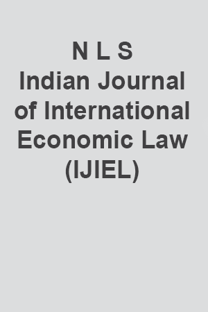 N L S Indian Journal of International Economic Law (IJIEL)