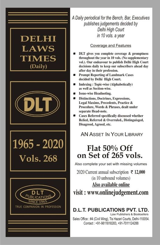 Delhi Law Times (DLT) Daily